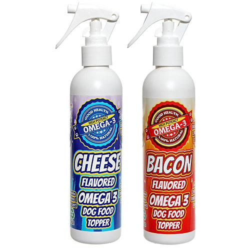 Bacon & Cheese Dog Food Topper 8 oz 2 pack