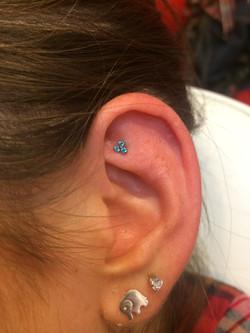 rook, anti helix ear piercing, jewel
