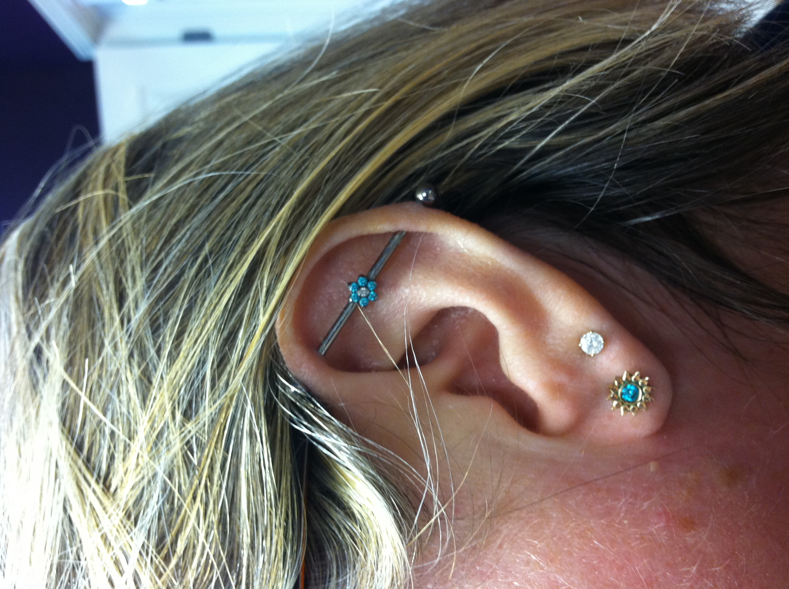 industrial ear piercing, jewelry