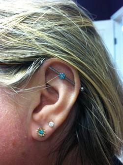 industrial ear piercing, jewelry
