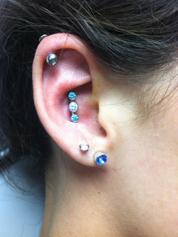 cartridge piercing, jewelry