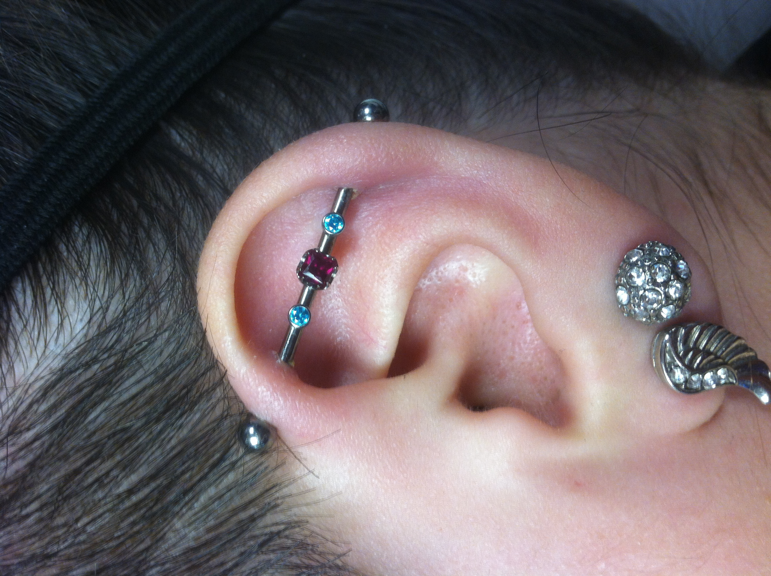industrial ear piercing