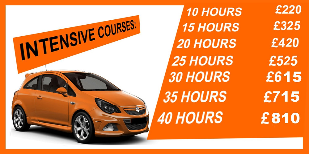 intensive driving lessons leeds