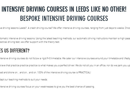 Bespoke - Intensive Driving Courses Leeds - Intensive Driving Lessons Leeds