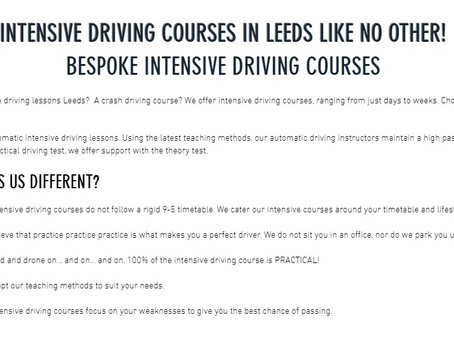 Book An Intensive Driving Courses in Leeds From 12th April 2021 - Intensive Driving Lessons Leeds