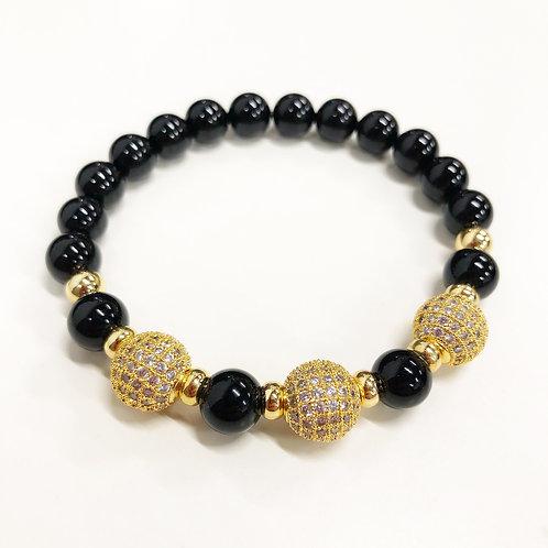 Black Agate Bracelet (BA)