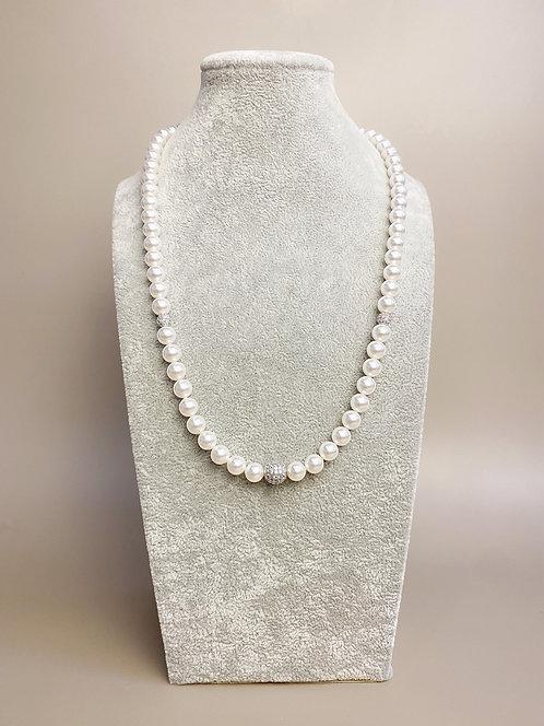 CZ Diamond Necklace (SP)