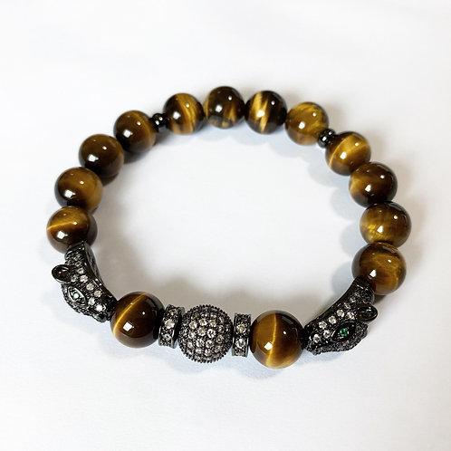 CZ Diamond Panther Bracelet (YTE)