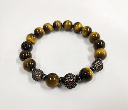 Classic 3 Beads CZ Bracelet (YTE)
