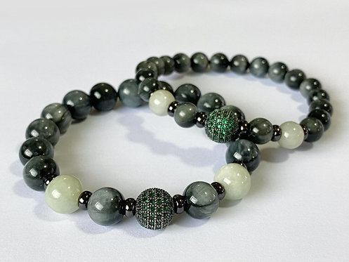 CZ Diamond Jade Bracelet (GTE)