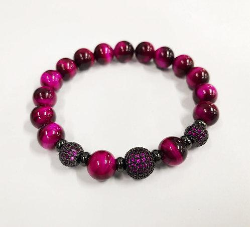 Classic 3 Beads CZ Bracelet (RTE)