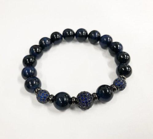 Classic 3 Beads CZ Bracelet (BTE)