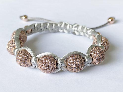 Pink CZ Diamond Bracelet (RG)