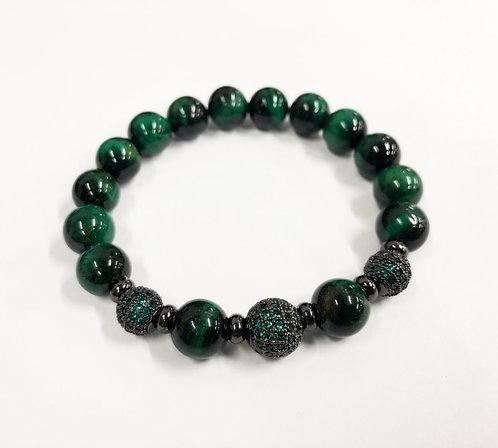 Classic 3 Beads CZ Bracelet (GTE)