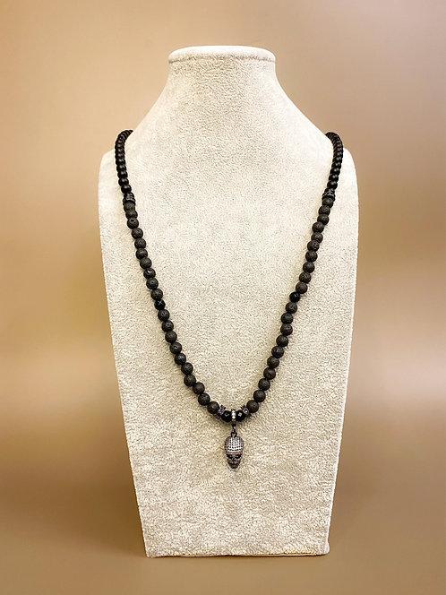 CZ Diamond Skull Necklace (LV/MO/GO)