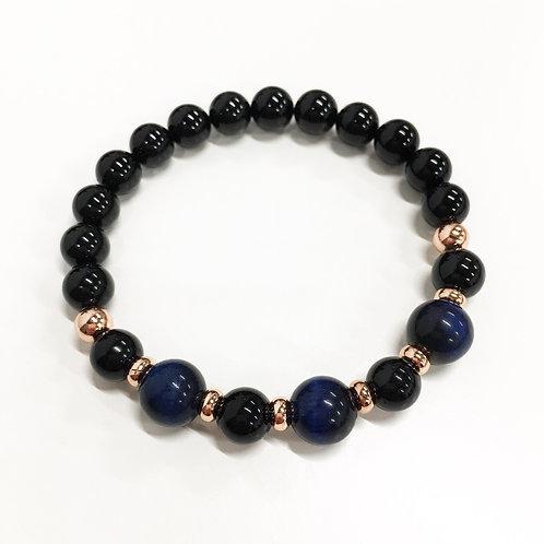 Classic Blue Tiger Eye Bracelet (BA)