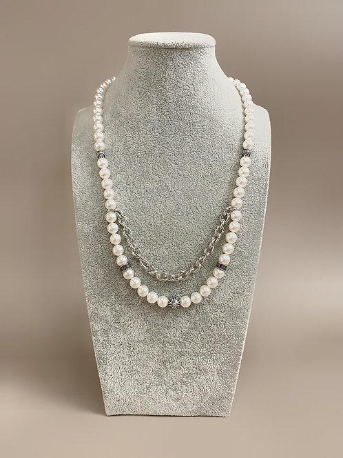 925 Silver Chrome Necklace (SP)