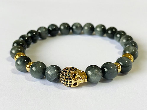 CZ Diamond Skull Bracelet (GTE)