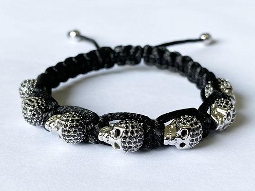 CZ Diamond Skeletal Bracelet (S)