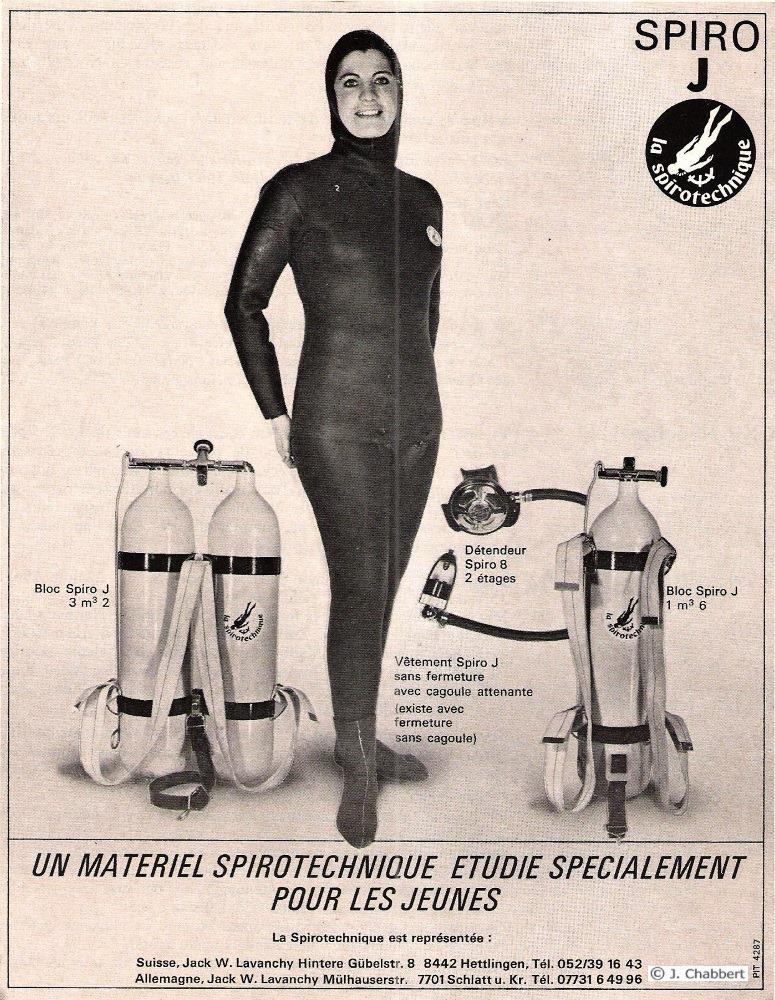 Publicité de la gamme SPIRO J de 1969