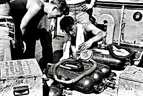 Maurice Fargues avant sa dernière plongée le 17 septembre 1947