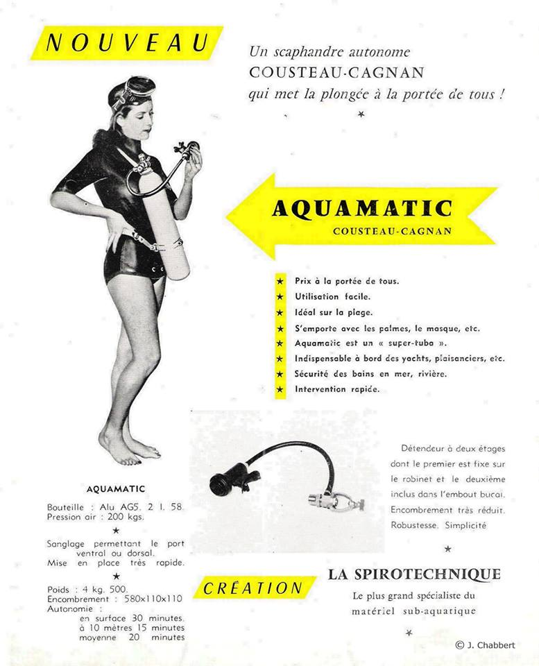Publicité de l'AQUAMATIC