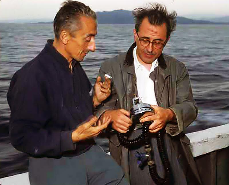commandant Jacques-Yves COUSTEAU et Émile GAGNAN