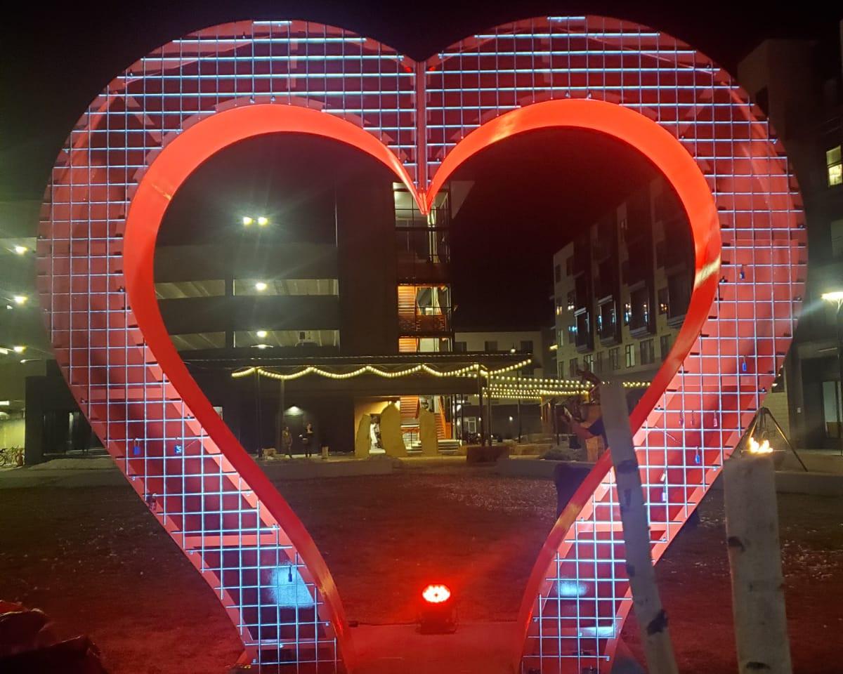 Love Lock II Sculpture - Loveland, CO