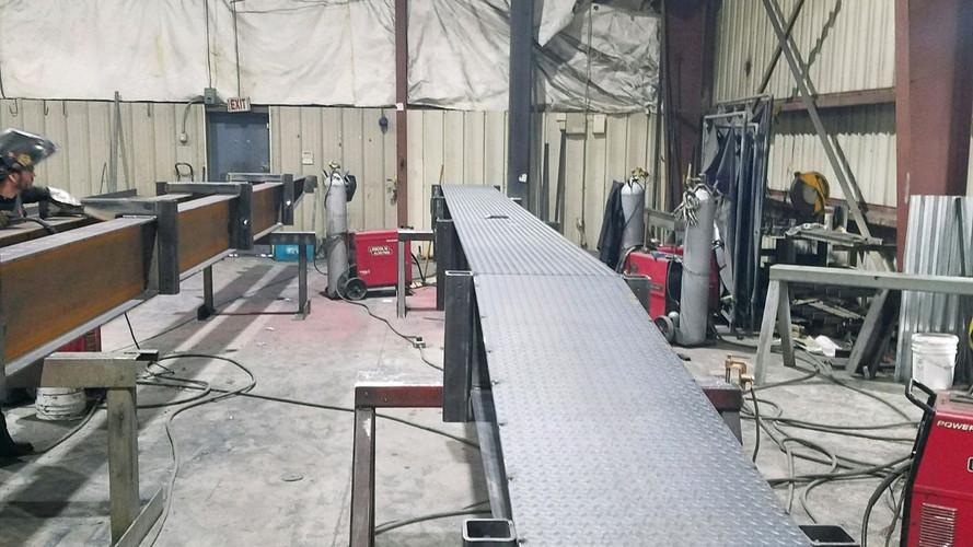 Construction Acess Bridge - Fabrication