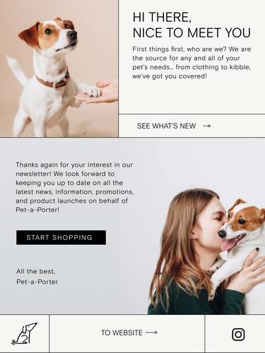 Pet-a-Porter Email