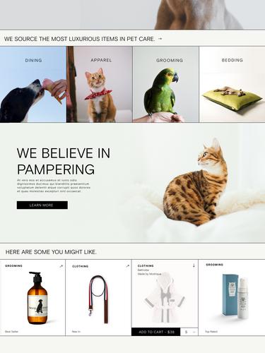 Pet-a-Porter Homepage