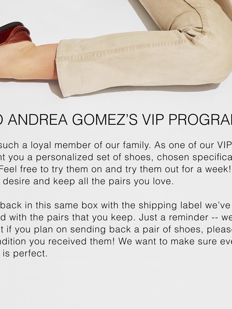 Andrea Gomez VIP Insert