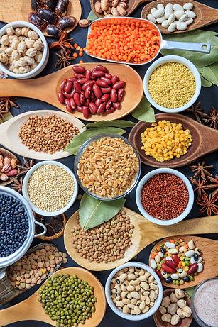 Legumes pulses background. Legumes varie