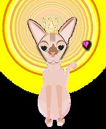 BlowPOPArt Sphynx cat with Tiara