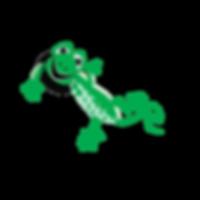 Vector illustration of Gecko waving Hi