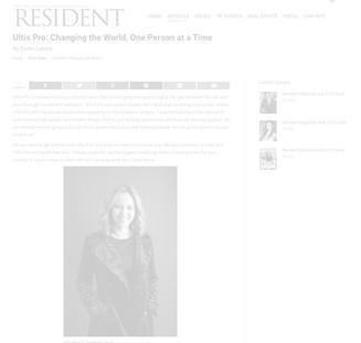 Resident Magazine Suzannah Dacre ULTISpro