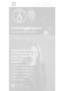 Authority Magazine Suzannah Dacre ULTISpro