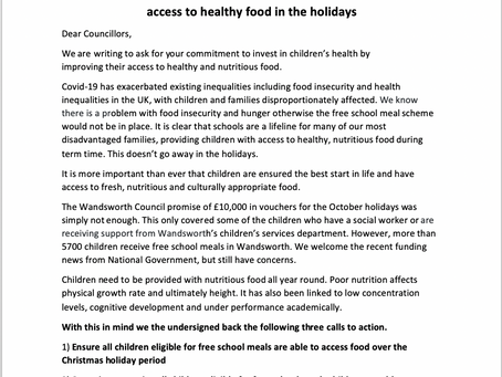 Wandsworth Council, we urge you to ensure no child goes hungry!