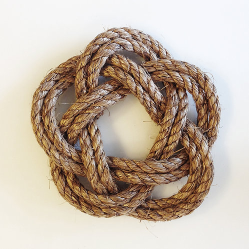 'In Knots' Rope Trivet - double loop