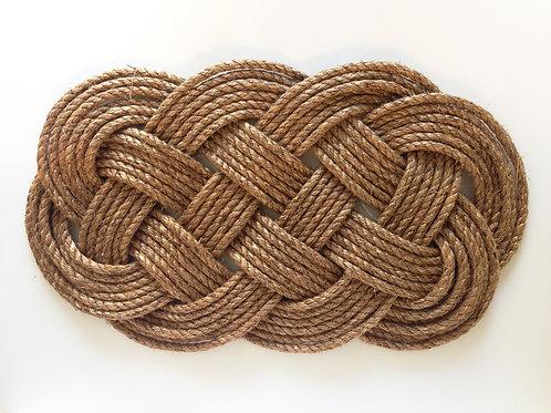 'In Knots' Ocean Plait Doormat