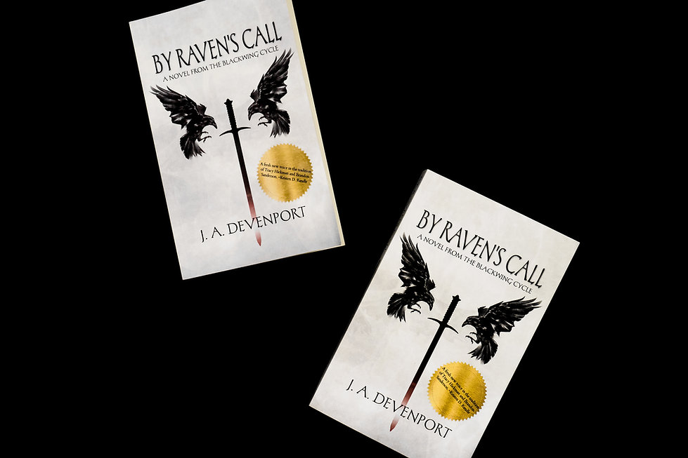 Two copies of By Raven' Call hot of the press.