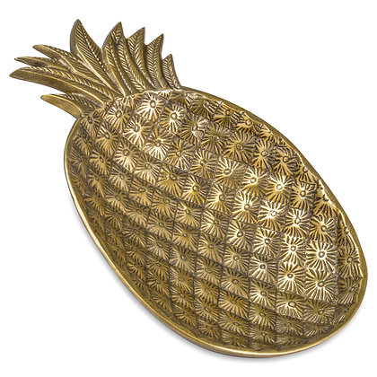 Ohlson Antique Brass Decorative Pineapple Dish