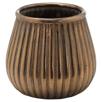 Evi Antique Bronze Decorative Teardrop Planter