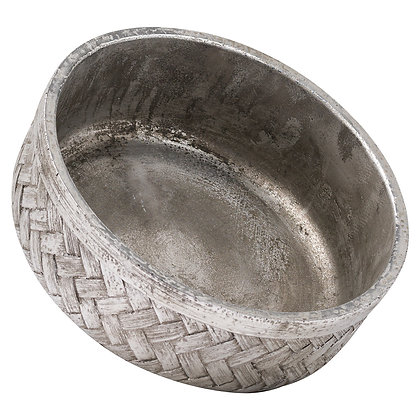 Aspen Woven Effect Decorative Bowl