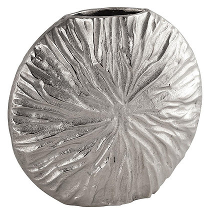 Farrah Cast silver Textured Large Vase