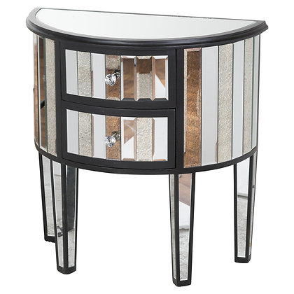 Soho Black Collection 2 Drawer Side Table
