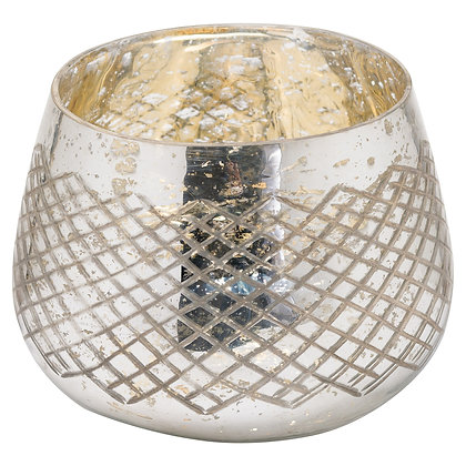 The Noel Collection Silver Foil Tealight Holder