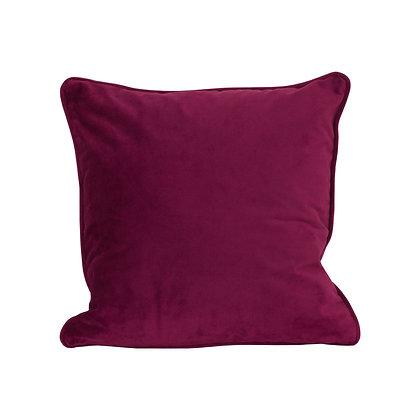 Aubergine Velvet Cushion 40x40cm