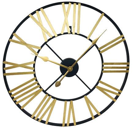 Gold & Black Roman Numeral Clock 60cm
