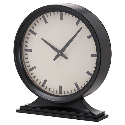 Simple Black Mantel Clock